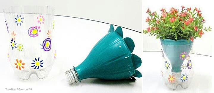 Planter made from plastic soda bottle crafts pinterest for Plastic bottle planter craft