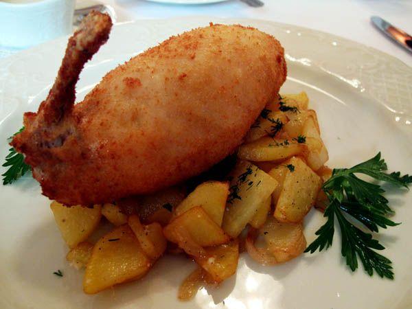 Chicken Kiev w/ Herbed potatoes | Savoury, Hot & Spicy | Pinterest