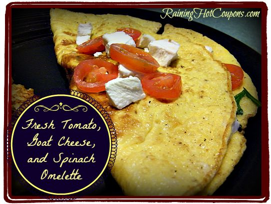 Fresh Tomato Goat Cheese and Spinach Omelette ~ A Fit Start to Your D ...