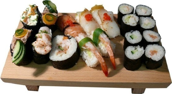 Sushi - my new way to eat food.  No fork or knife required.