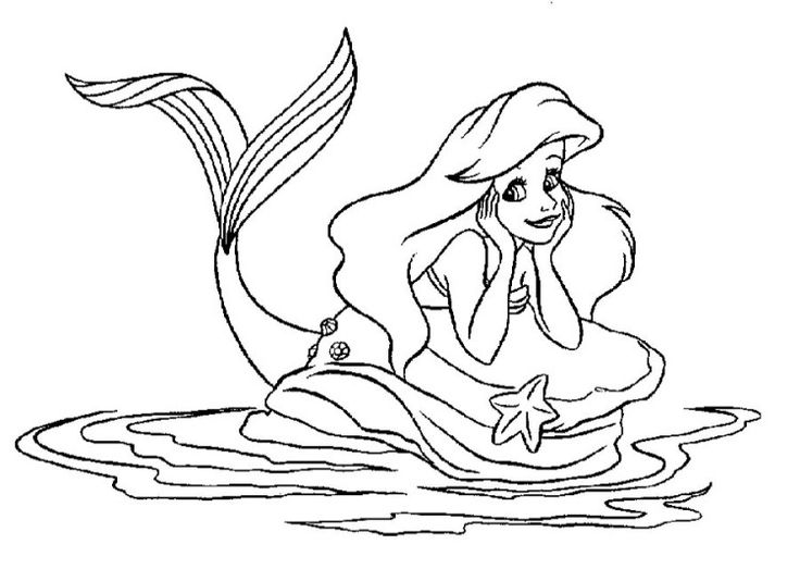 Beautiful Mermaid Coloring Pages Diy Crafts Pinterest Beautiful Mermaid Coloring Pages