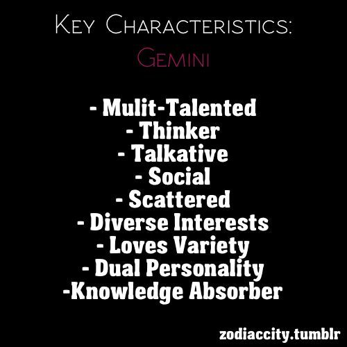 gemini characteristics female - photo #2