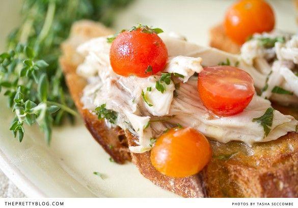 garlic marinated chicken + bruschetta