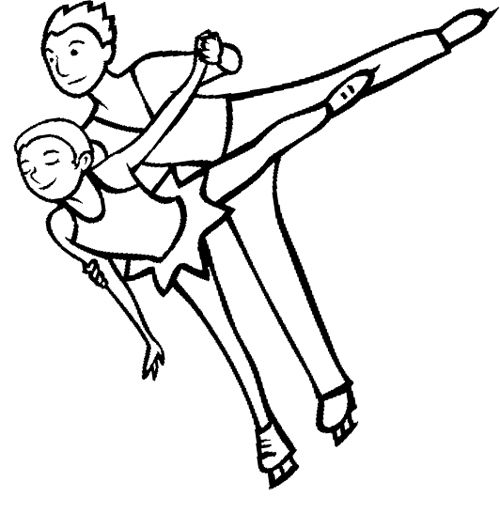 coloring pages of ice skaters - photo#31