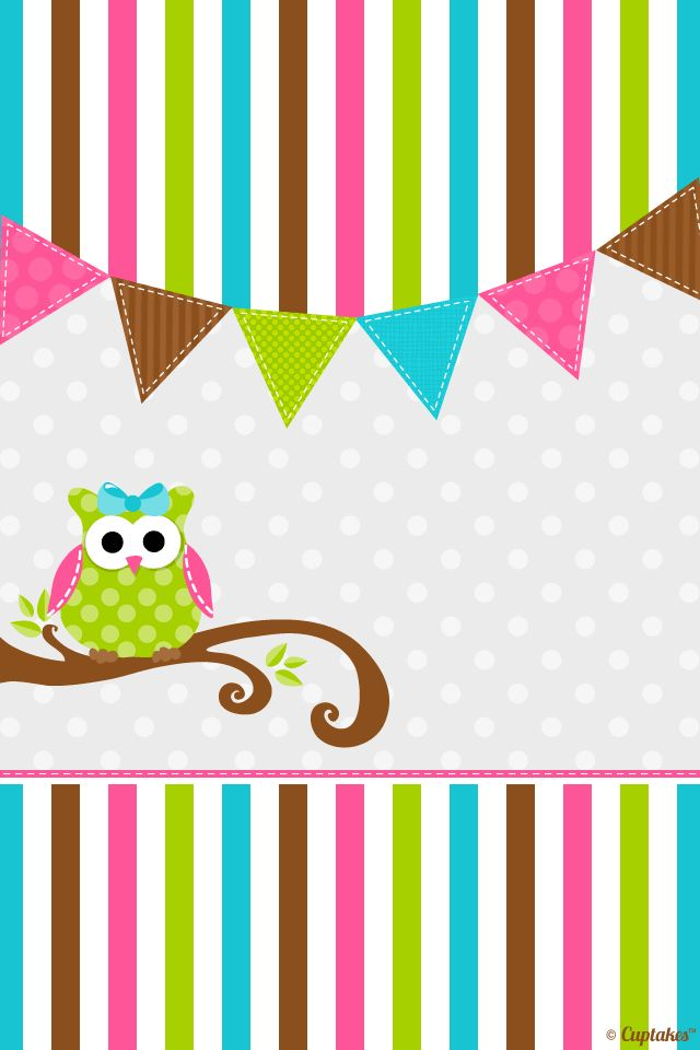 Cute Colorful Owl Background