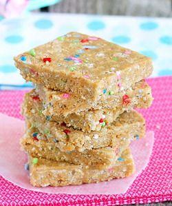 cake batter energy bars