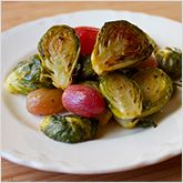 ... table will ask for this #recipe for roasted Brussels sprouts &grapes