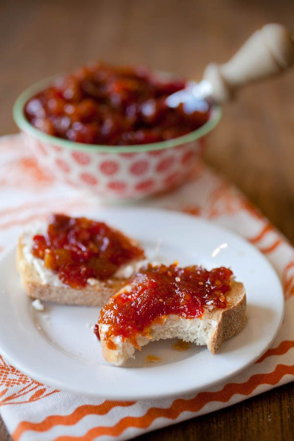 Spicy tomato chutney perfect as a side for meat or as a topping for ...