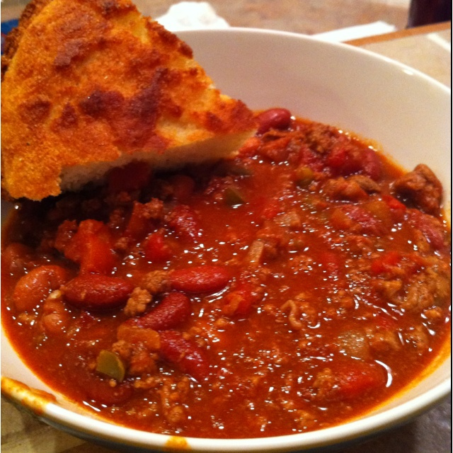 Chili beans & cornbread | Food and drinks | Pinterest