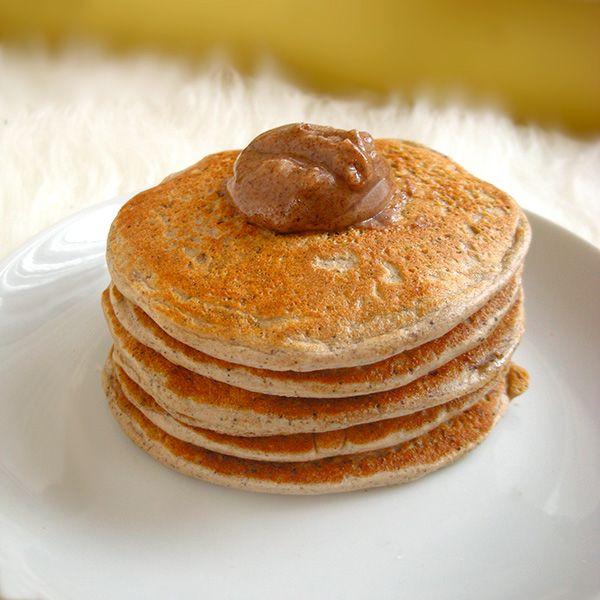 Quick & simple Pumpkin Spice Latte Protein Pancakes. Vegetarian, Vegan ...