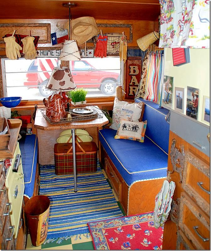 Vintage Camper Interior Little Trailers Fixed Up