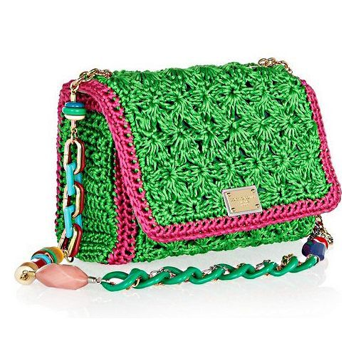 How To Make Crochet Bags And Purses : Dolce & Gabbana crochet bag Crochet, what else? Pinterest