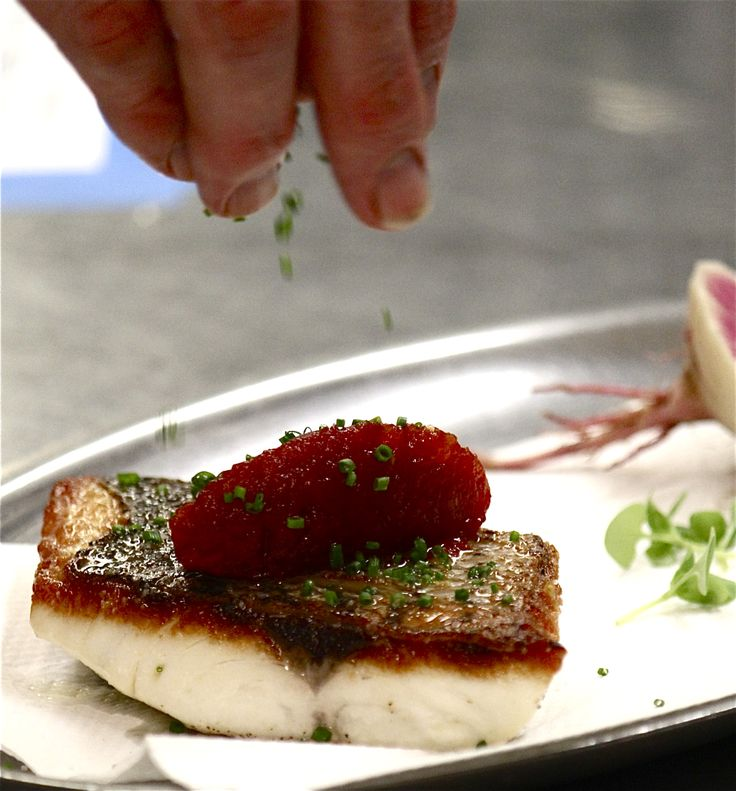 perfect striped bass, tomato concasse | Food | Pinterest