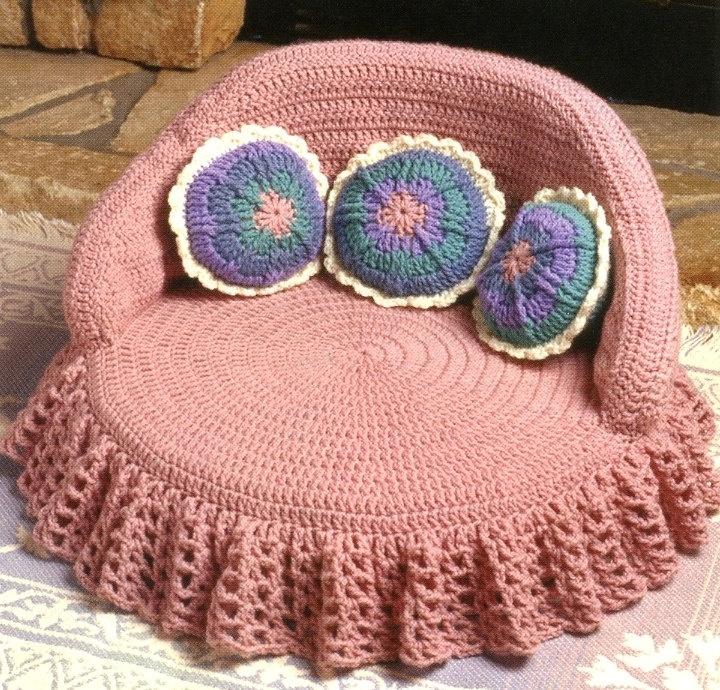 Dog Bed Princess Style Crochet Pattern