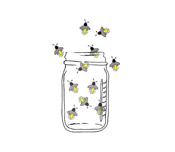 Mason Jar Image - Fireflies - Lightning bugs - Digital Clipart - PNG ...