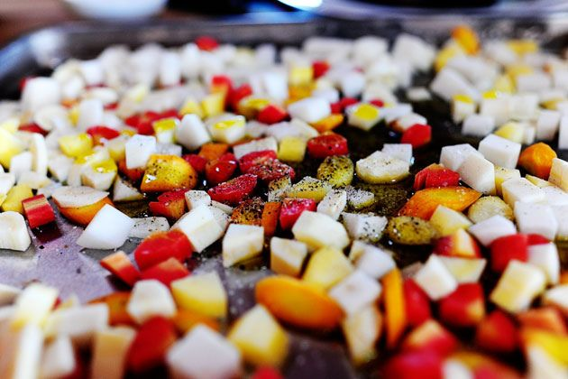 """Roasted Root Vegetable """"Candy""""--Pioneer Woman. Should be super simp..."""
