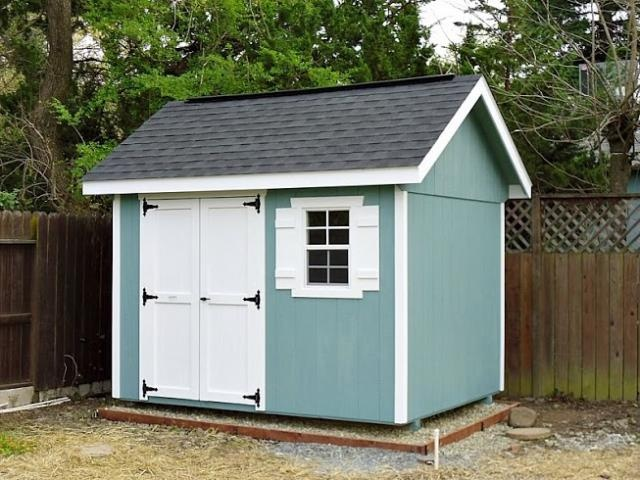 Custom Backyard Sheds : x10 Garden Shed with Ridge Vent and Custom Paint