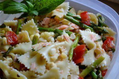salmon pasta salad | Favorite Recipes: rice Elena, Peanut Butter poun ...