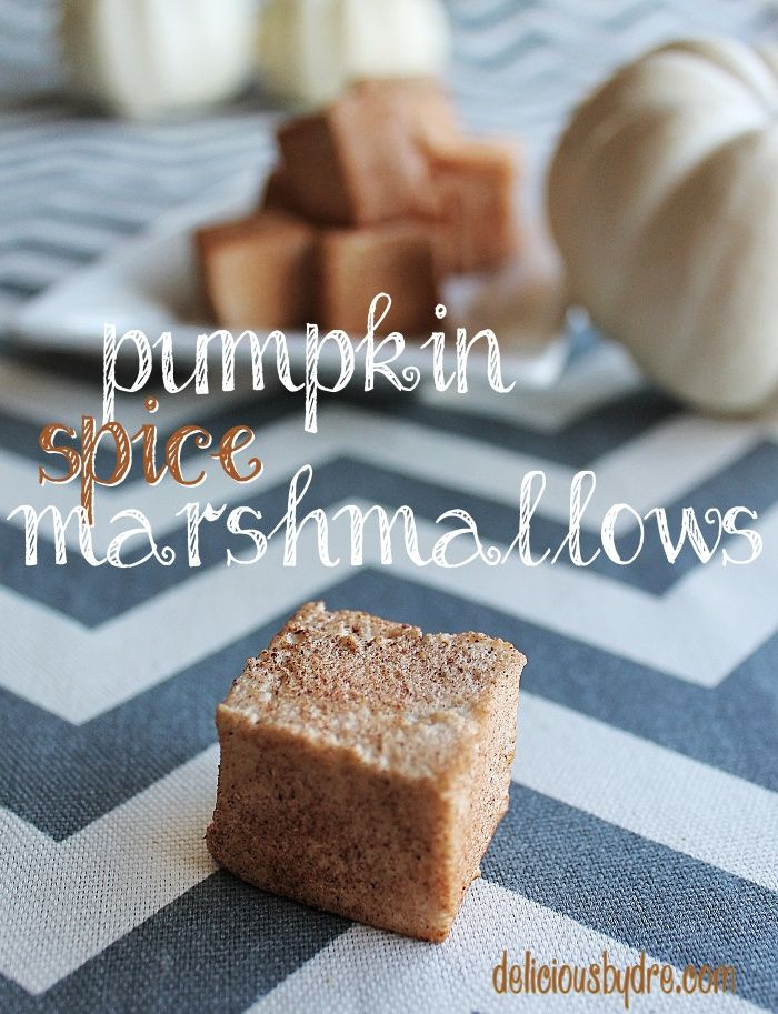 gluten-free homemade pumpkin spice marshmallows!! perfect holiday gift ...