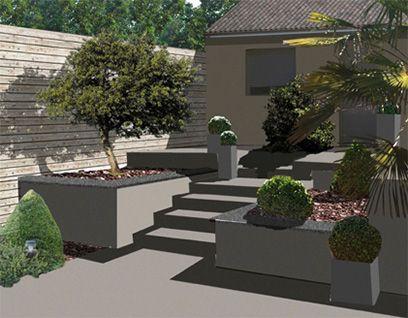jardin escalier deco exterieure pinterest. Black Bedroom Furniture Sets. Home Design Ideas