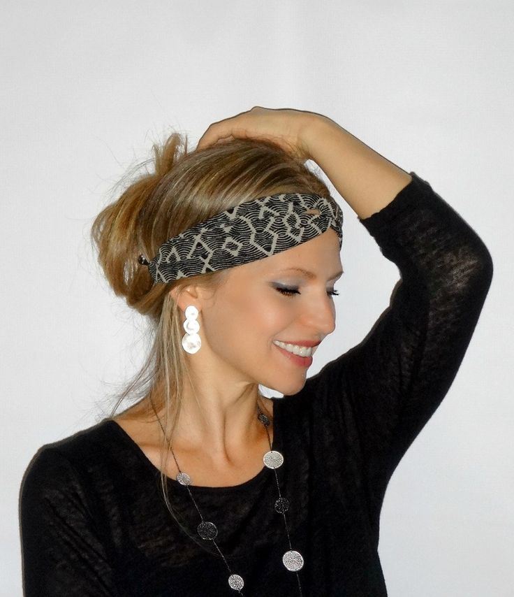 Aztec Print Hair scarf, Head wrap,trendy, hair band,headband