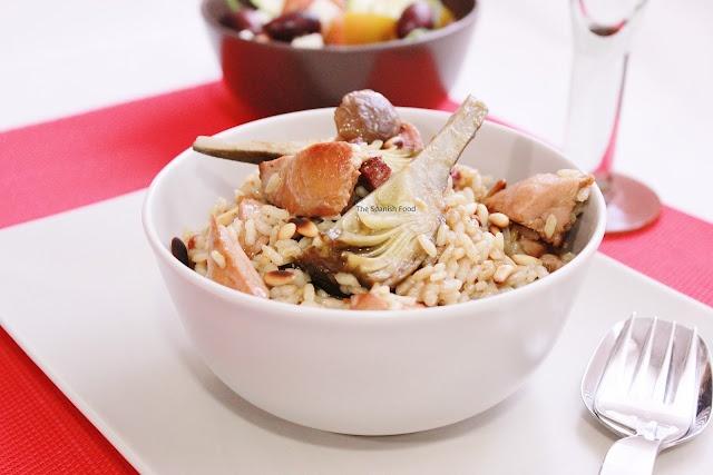 Arroz con boletus y pollo de corral  http://www.thespanishfood.es/2012/04/arroz-con-boletus-y-pollo-de-corral.html