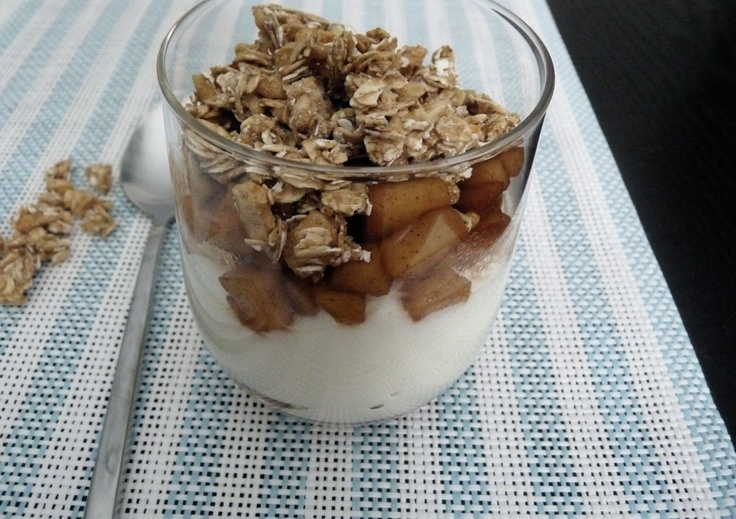 Vanilla Yogurt & Apple Compote Parfait | Desserts | Pinterest