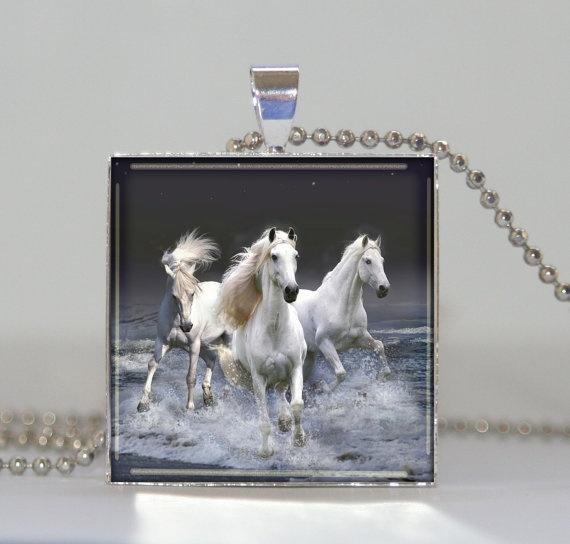horses fantasy pendant  necklace charm horse by pendantmania, $8.70
