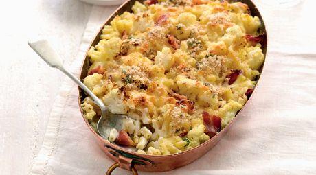 Cauliflower & Bacon Mac 'n' Cheese Bake | Food | Pinterest