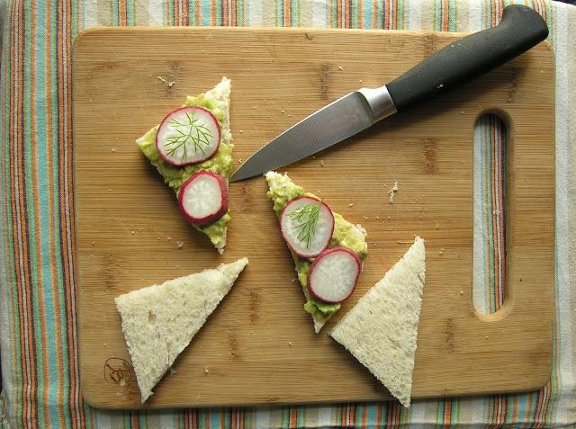 Avocado-Radish Tea Sandwiches   The Cozy Herbivore