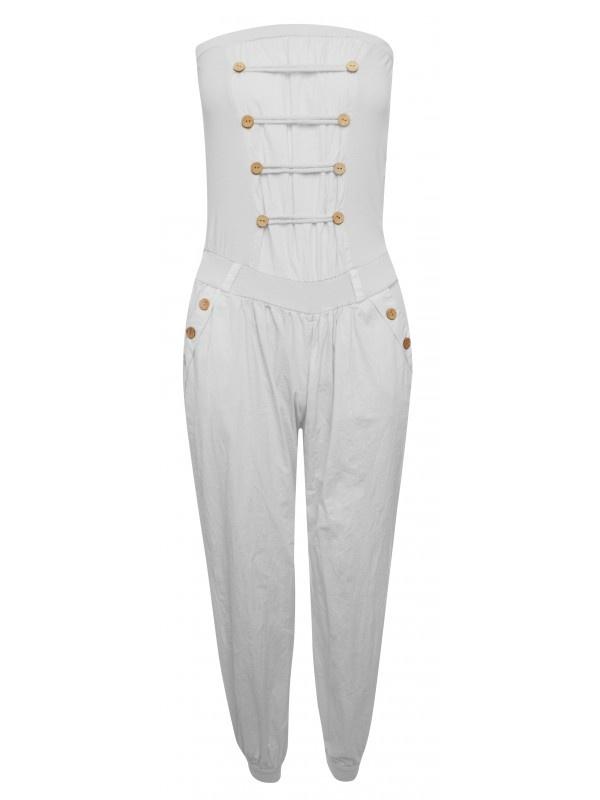 Agata Military Style Button Jumpsuit