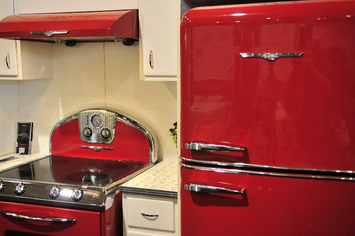 Kitchen inspiration red appliances kitchen design - Red kitchen appliances ...