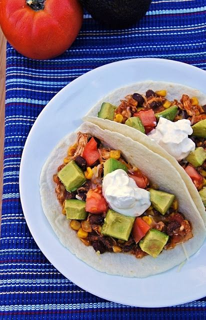 ... Life of a Navy Wife: Slow Cooker Black Bean and Corn Chicken Tacos