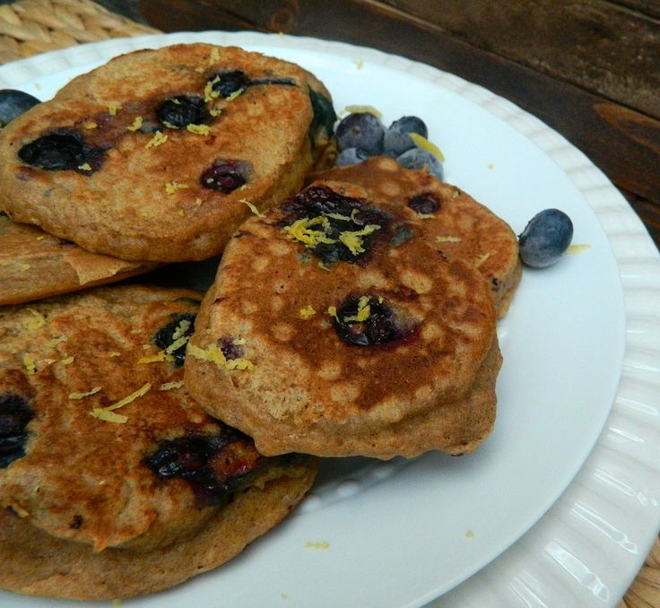 Blueberry Lemon Whole Wheat Pancakes | Pancakes | Pinterest