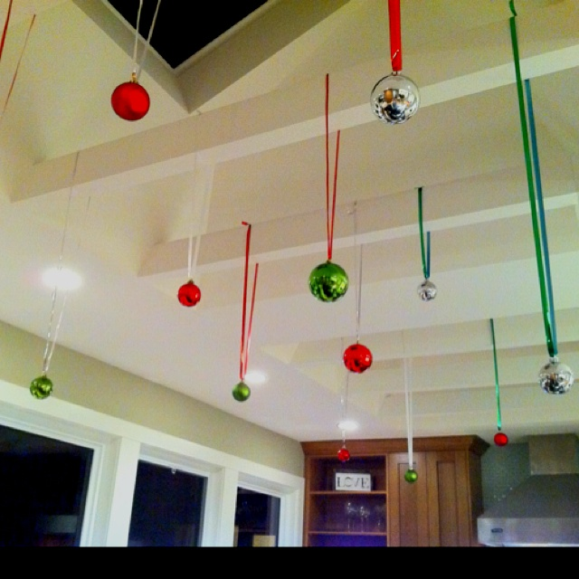 hanging ornaments from my ceiling seasonal pinterest