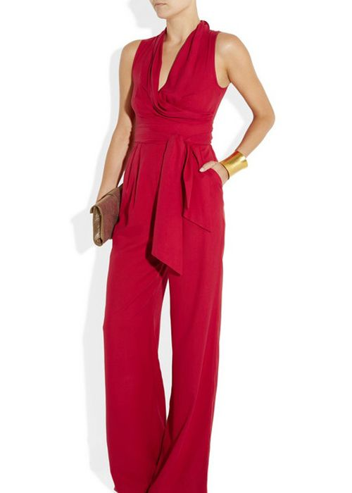 Creative  Jumpsuits  Celebrities In Summer Jumpsuits 2013  Harpers BAZAAR Ashlees Loves Rouge Info  Ashleeslovescom Donna Rouge Red Jumpsuit Womens Fashion Style Organza Embroidery Black Dress THIS IS MORE MY
