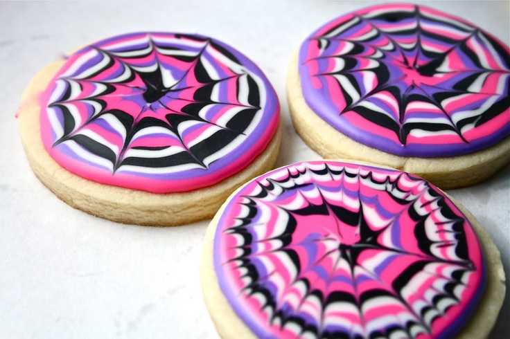 tie dye icing on sugar cookies