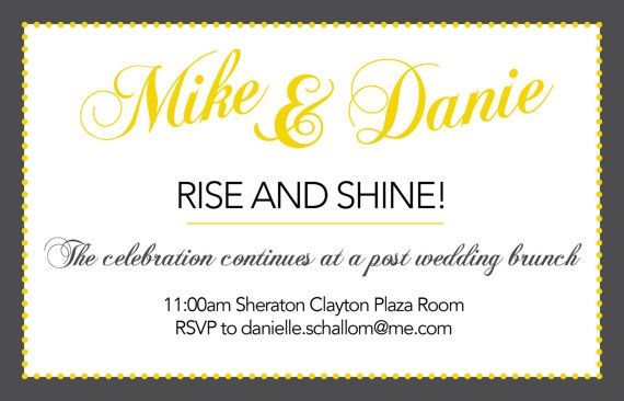 wedding brunch invite your guests in style with this 5x7 invitation