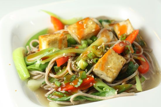 Soba Noodles with Tofu in Ginger Broth | Recipe