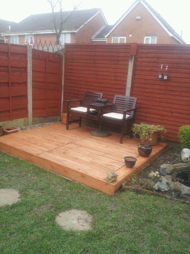 My pallet deck back yard ideas pinterest for Garden decking from pallets