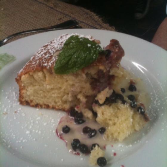 So yummy! Huckleberry coffee cake!! | Huckleberry Food'n'Drink | Pint...