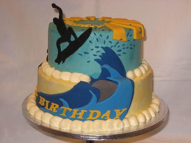 Surfboard Birthday Cake Ideas