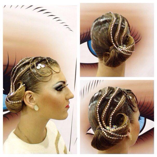 banana peel hairstyle : Ballroom#Hairstyle Ballroom Competition Pinterest