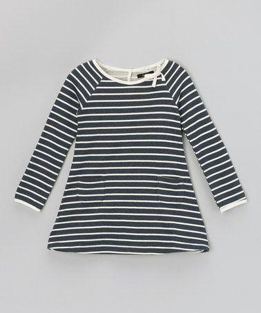 44. Take a look at this Indigo Stripe Swing Dress - Toddler & Girls ...: pinterest.com/pin/28921622580867772