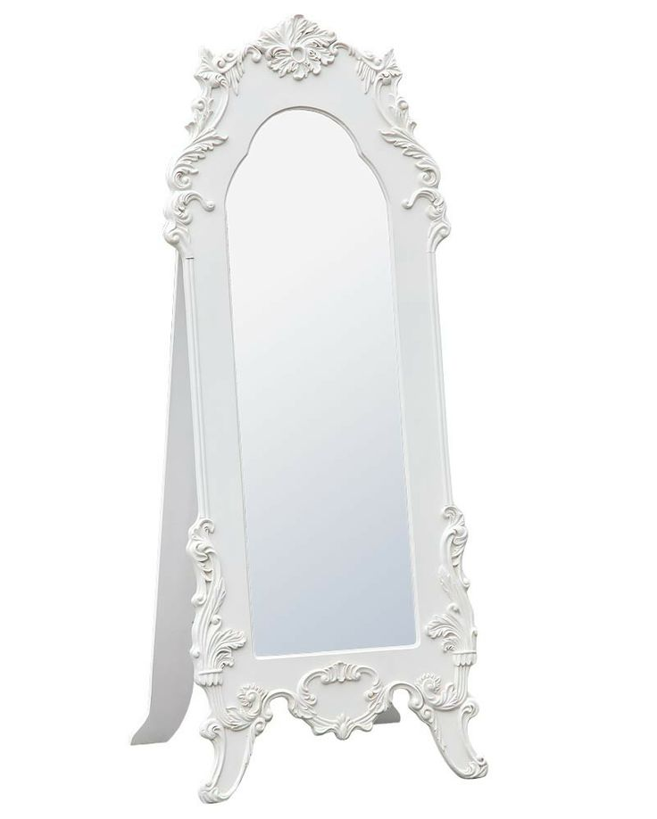 Beautiful free standing floor dressing mirror dimensions for Floor mirror italian baroque rococo style in lacquer finish