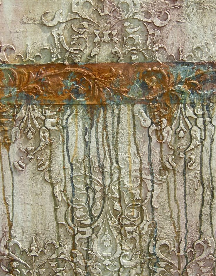 embossed plaster with patina