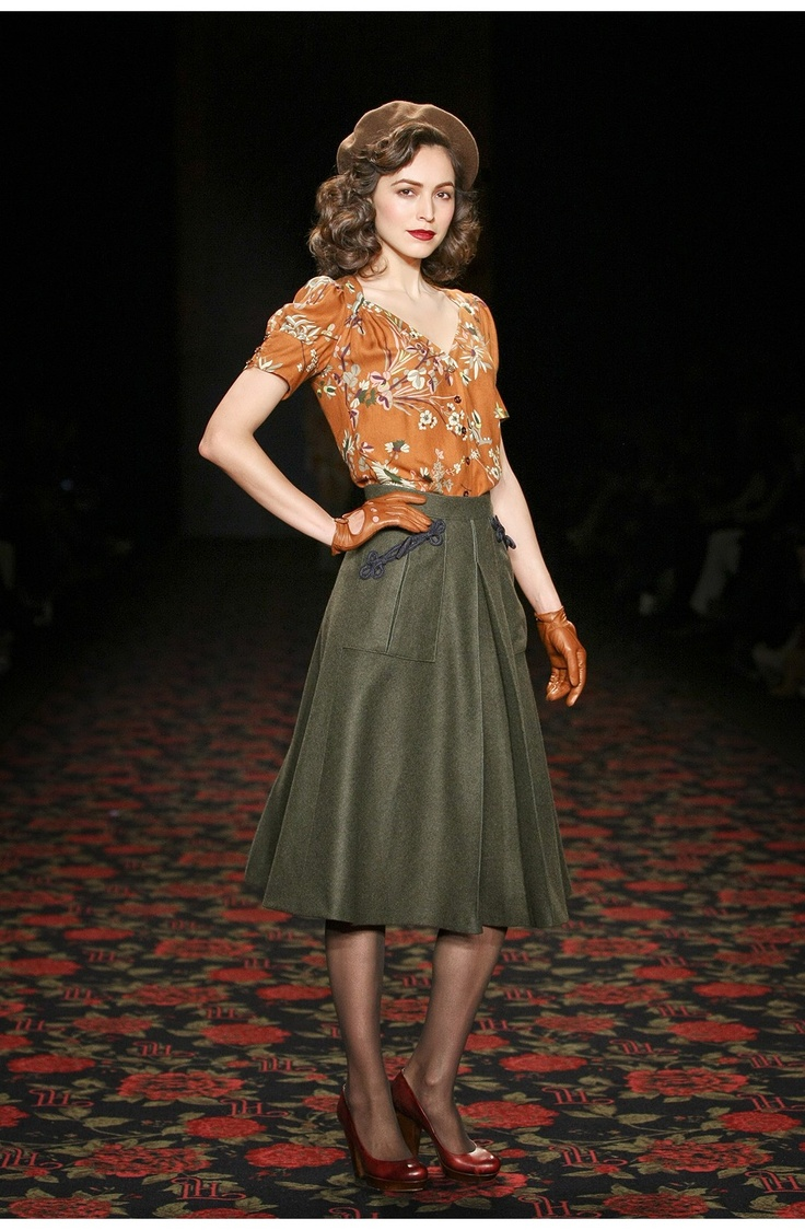 40s style - love the gloves