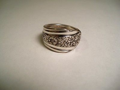 Modern Rose 1949, size 8-1/2 Spoon Ring, ,silverplated #332