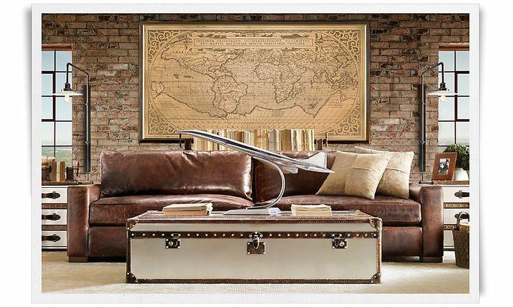 restoration hardware living room house ideas pinterest