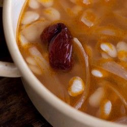 Baby Lima Soup with Chipotle Broth